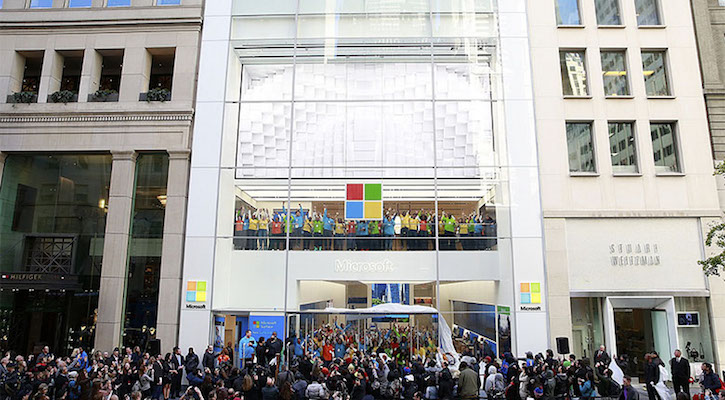 Microsoft NYC flagship storefront