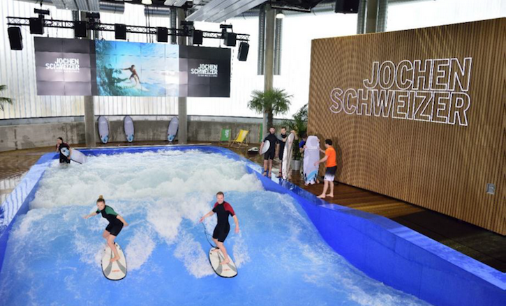 Surf's up at the Mall of Switzerland