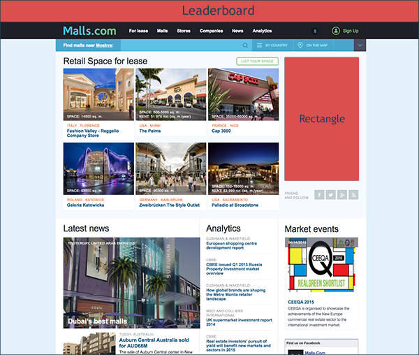 MallsCom banner places