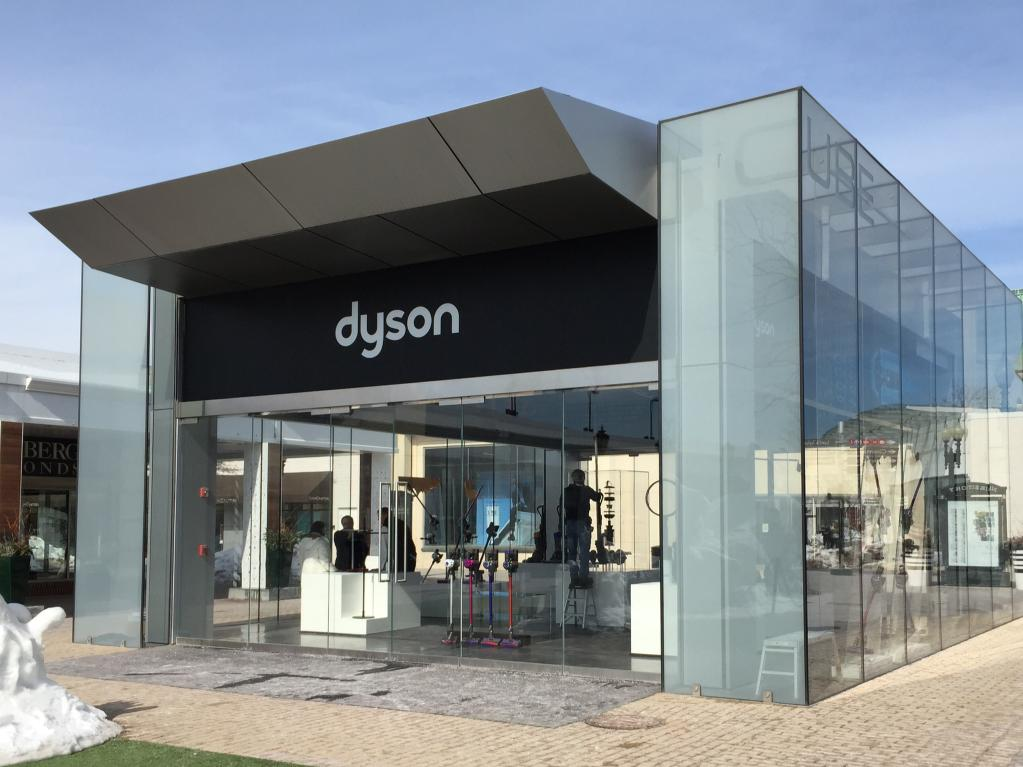 Dyson pop up store in US render
