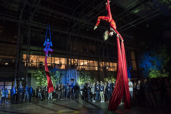 Aerial silks at Google Party