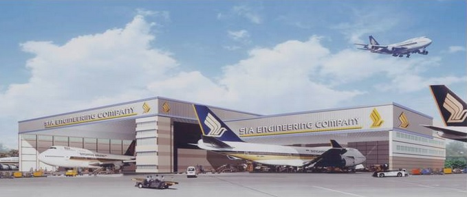 Singapore Airlines hangars