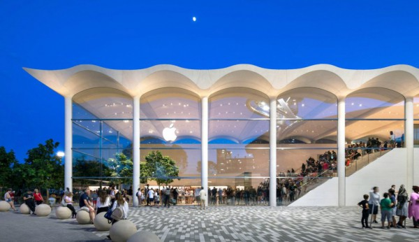 Inspiring Apple Store with Marine Design Opened